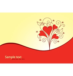 Love Valentine background vector image vector image