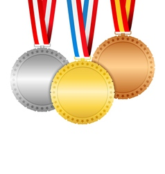 Medals with ribbons vector image vector image
