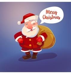 Santa Claus character and sack vector image vector image