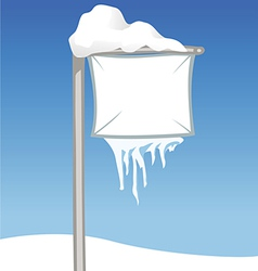 sign snowy vector image vector image