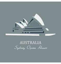 sydney opera house vector image vector image
