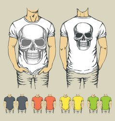 t-shirts templates with prints of animals vector image vector image