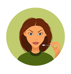 Woman and wadding stick vector