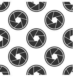 camera shutter icon seamless pattern vector image vector image