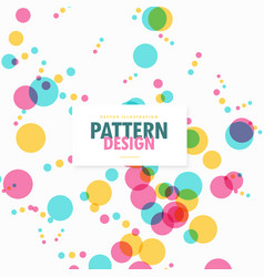 Colorful transparent circles dots celebration vector