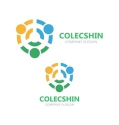 Connection logo idea template vector