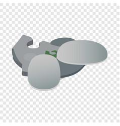 esplanade in singapore isometric icon vector image vector image