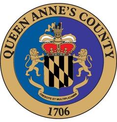 Queen Annes County vector image