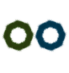 set of multicolored festive wreaths for christmas vector image vector image