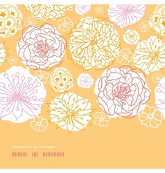 Warm day flowers horizontal decor seamless pattern vector image
