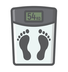 weight scale filled outline icon fitness vector image vector image