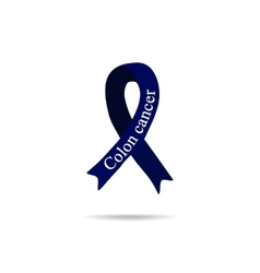 Cancer Ribbon Colon cancer International Day of vector image vector image
