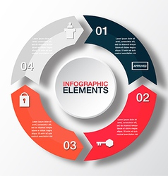 circle arrows for infographicTemplate for diagram vector image