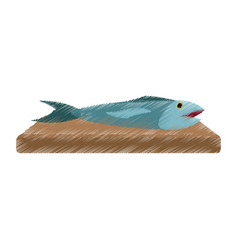 Food fish icon image vector