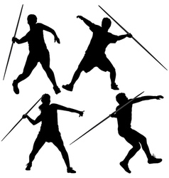 Javelin Thrower Silhouette vector image vector image