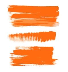 orange gouache brush strokes the perfect backdrop vector image vector image