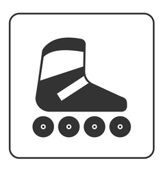Roller skate icon vector image vector image