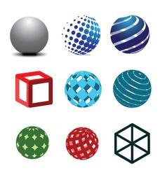 3d logos vector