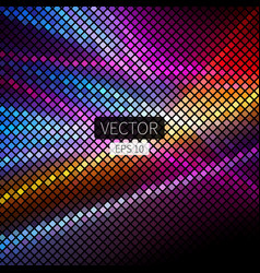 abstract geometric disco background in bright vector image