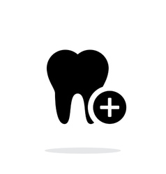 Add tooth icon vector image