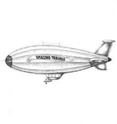 airship pencil drawing vector image