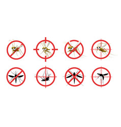 anti mosquito sign informational red prohibited vector image