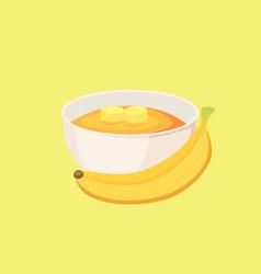 Banana jam healthy breakfast food isolated vector