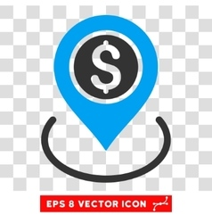 Bank Place Icon vector image