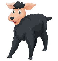 Black sheep with happy face vector