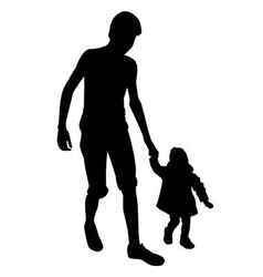 boy and little girl vector image