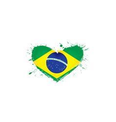 Brazil flag on a white vector