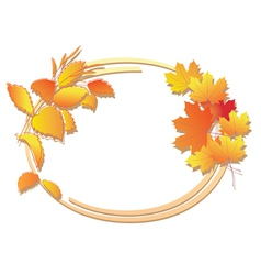 bright autumn floral frame vector image