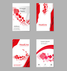 Brochure design geometric abstract business vector