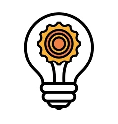 Bulb or great idea isolated icon design vector image