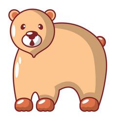 canadian bear icon cartoon style vector image