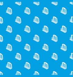 castle balcony pattern seamless blue vector image