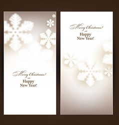 Christmas banners with defocused snowflakes vector