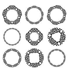 circle celtic frame set vector image