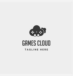 Cloud game logo design template icon element vector