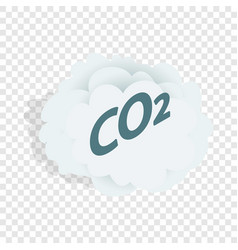 Co2 cloud isometric icon vector