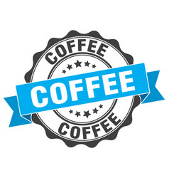 Coffee stamp sign seal vector