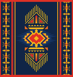 Colorful aztec seamless pattern ethnic geometric vector