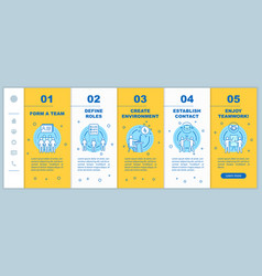 Cooperation and interaction onboarding mobile app vector