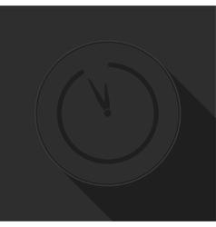dark gray icon with clock vector image