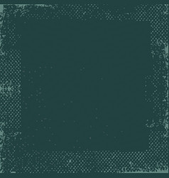 Dark green grunge vintage old paper background vector