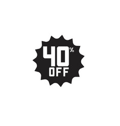discount 40 off label template design vector image