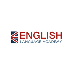 english language academy sign vector image
