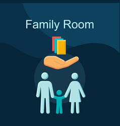 family room flat concept icon vector image