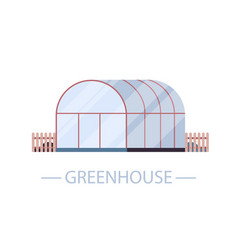 Farm greenhouse building organic eco farming vector