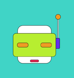 flat icon design collection toy robot face vector image